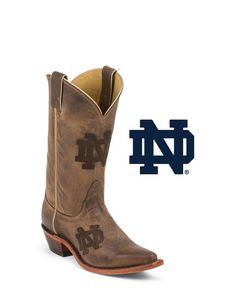 Nocona Women's University of Notre Dame Branded Cowgirl Boot  http://www.countryoutfitter.com/products/48190-womens-university-of-notre-dame-branded-boot