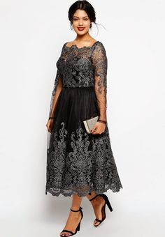 Formal plus size dress with sleeves | Follow Mode-sty for stylish modest clothing #nolayering