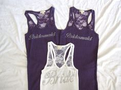 Bridesmaids tanks