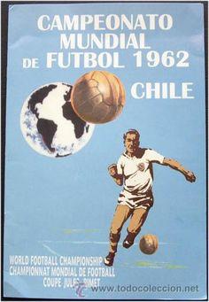 1962 World Cup Finals poster. Retro Football, Football Kits, Vintage Football, Football Cards, Soccer Logo, Soccer Poster, Soccer World, World Football, Sand Soccer
