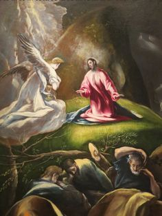 """""""The Agony In The Garden"""", c. 1612, El Greco."""