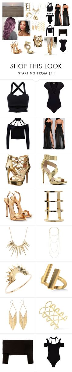 """Desert Heart"" by crispidiamond on Polyvore featuring Miss Selfridge, River Island, GUESS, ALDO, Giuseppe Zanotti, Alexis Bittar, Jennifer Zeuner, Sarah & Sebastian, Allurez and Lana"