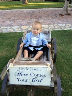 wagons for weddings flower girls | Uncle HERE COMES your GIRL Shabby Wedding by thebackporchshoppe