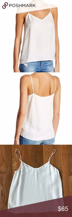 """Equipment Femme Womens Layla Silk Cami M new Equipment Femme Womens Layla Silk Cami Tank Top White Spaghetti Straps Size Medium NWOT New no tags 17.5"""" armpit to armpit 23.5"""" length Fast shipping Equipment Tops Tank Tops"""