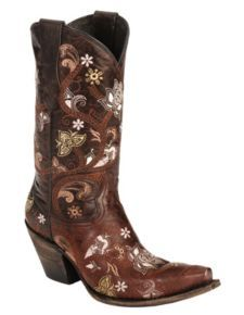Lucchese Boots - 1883 Red Gardenia Cowgirl Boots - Snip Toe