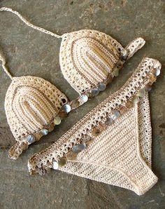 Sea Shells Bikini crochet Handmade crochet bikini by MarryG