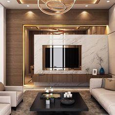 Modern Luxury Living Room Design Elegant Luxury Modern Villa Qatar On Behance Living Room Tv Unit, Luxury Living Room, Luxury Living Room Design, Room Interior, Luxurious Bedrooms, House Interior, Living Room Design Modern, Living Room Tv Wall, Living Design