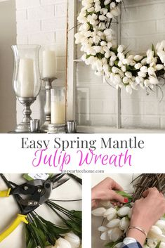 Spring Wreath DIY, Tulip Wreath