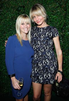 """Reese on Cameron's shrewd personality: """"Cameron is such a funny, bright gal. She's an incredibly sharp, business-minded woman, but she disguises that side of herself. It's her secret alter ego."""" Image Source: Getty / Donato Sardella"""