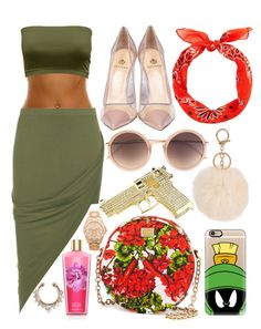 """Sem título #334"" by brunasthefanny ❤ liked on Polyvore featuring mode, WearAll, Dolce&Gabbana, Rock Rebel, Vince Camuto, Casetify, Linda Farrow, Semilla, women's clothing en women's fashion"