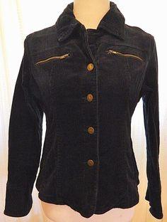Women's Corduroy Jacket Blazer Button Front Live a Little LAL Plum Purple Size M #LiveaLittle #BasicJacket