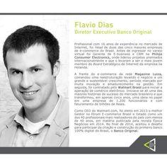 A 2ª Edição do Conexão Empresarial contará também com a participação de Flavio Dias como um dos palestrantes do evento. Com sua carreira brilhante, está agora à frente como Diretor Executivo do Banco Original, o 1º banco 100% digital do Brasil. #palestrante