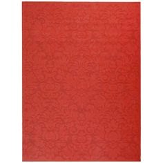 "Dorchester Damask Rectangle 5'3"" X 7'7"" Outdoor Rug - Red - Safavieh"