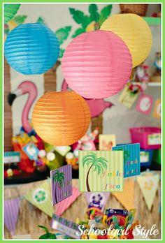 use paper lanterns:) Luau Theme, Hawaiian Theme, Luau Party, Dance Themes, My Themes, Beach Themes, Teacher Appreciation Breakfast, Teacher Appreciation Week, Employee Appreciation