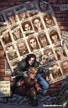 As melhores ilustrações de Game of Thrones feitas por fãs