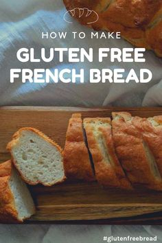 Easy Gluten Free French Bread Recipe for Consistent Delicious Bread! And it's dairy free too! Easy Gluten Free French Bread Recipe for Consistent Delicious Bread! And it's dairy free too! Patisserie Sans Gluten, Dessert Sans Gluten, Gluten Free Cooking, Dairy Free Recipes, Wheat Free Recipes, Gluten Free Dairy Free Bread Recipe, Gluten Free Breads, Gluten Free Rolls, Dairy Free Baking