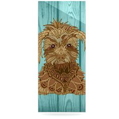 """Art Love Passion """"Gatsby the Great"""" Brown Dog Luxe Rectangle Panel"""
