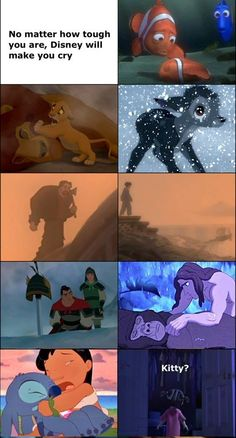 Disney will make you cry... I was doing ok til I saw the kitty one... That did it.