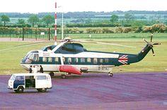 British Airways S-61N G-ATBJ (cn 61-269) as seen at Newcastle's Woolsington Airport in June 1976