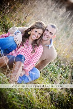 Country Farm Engagement Photography, cute plaid and boots ~ Kansas City Engagement Photographers: Melissa & Beth