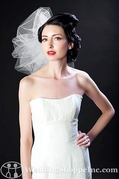 Sara Gabriel Bridal Headpiece Quinn Veil from the Wedding Shoppe, http://www.weddingshoppeinc.com