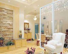 glass screen room divider