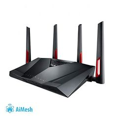 Buy ASUS Dual-Band Wireless Gigabit Router at Mighty Ape NZ. Your best choice for Games, Streaming and Smart Homes. Ultra-fast Wi-Fi router with a combined dual-band data rate of 3167 Mbps for lo. Best Wireless Router, Router Wifi, Gaming Router, Best Router, Modem Router, Pc Gamer, Modelo Osi, Wi Fi, Contrôle Parental