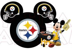 Printable DIY Mickey Mouse Steelers NFL Football by MyHeartHasEars, $5.00