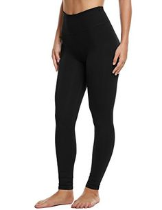 +MD Womens High Waist Tummy Control Workout Running Yoga Leggings Printed Pants With Hidden Pocket
