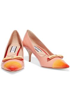 Lucy Choi LondonChelsea bow-embellished patent-leather pumps