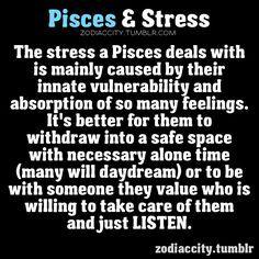 Zodiac City Pisces and stress Aquarius Pisces Cusp, Pisces Traits, Pisces Love, Astrology Pisces, Pisces Quotes, Zodiac Signs Pisces, Pisces Woman, Zodiac Facts, Pisces Daily