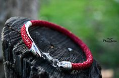 Red Stingray Leather Bracelet 94 USD.  #jewelry #leatherbracelet #phantom #stingraybracelet #silver #handcrafted #beautiful #bracelet #fashion #musthave #leather