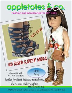 "HIGH FASHION GLADIATOR SANDALS 18"" DOLL SHOES"