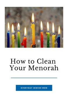 Every wonder the best way to clean wax off of your Hanukkah menorah? #hanukkah #menorah Hanukkah Crafts, Hanukkah Decorations, Hanukkah Menorah, High Holidays, Birthday Candles, Wax, Cleaning, Group, Board