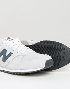 Image 4 of New Balance 420 Neutral Suede Trainers