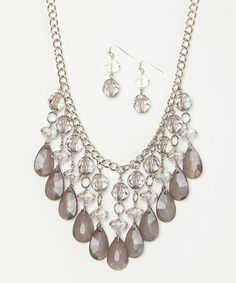 Another great find on #zulily! Silver & Lilac Do You Lilac It? Necklace & Drop Earrings #zulilyfinds