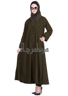 Hejabiya Dark Grey Colored Flayered Fashionable Abaya shop on www.hejabiya.com  Abaya, Burqa, College Abaya, Colorful Abaya, Dubai Abaya, Dubai Style Abaya, elegant, Fashion Abaya, Fashionable, hejab, hejabiya, Hijab, Islamic clothing, islamic dress, kaftaan, kaftan, khimar, khumur, modesty wear, Naqaab, Naqab, Onepiece, veil, Women, Women Clothing