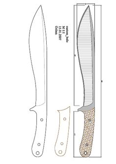 Flextangle Template, Knife Template, Pull Wagon, Knife Drawing, Cleaver Knife, Knife Patterns, Bushcraft Gear, Survival Equipment, Knife Handles