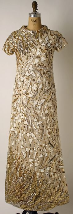 Evening Dress, Valentino (Italian, born 1932): ca. 1969, Italian, silk, plastic.