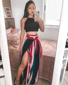 Nice outfit idea to copy ♥ For more inspiration join our group Amazing Things ♥ You might also like these related products: - Pants ->. Trendy Fall Outfits, Cute Casual Outfits, Stylish Outfits, Spring Outfits, Mode Outfits, Skirt Outfits, Fashion Outfits, Mode Ootd, Beachwear Fashion