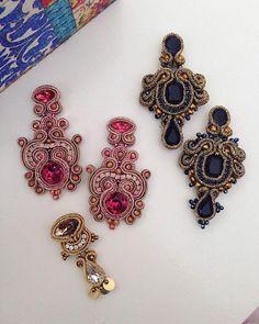 Bom dia! Qual deles escolher? #laprecious#danielalapajewelry#handmade#earrings#soutache#joalharia#brincos#feitoamao#madewithlove#beauty#fashionable#makeup#acessorios#bridalaccessories#noivas#fallwinter#weddingblog#bijuteria#joias#jewelrydesigner#jewelrygram#porto#style#arte#artesanato#girlstuff#ootd#fashionblogger#portugal#musthave