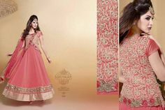 Festive Style! CODE: PRINCESS PEACH PRICE: INR 4999/- semi stitched, georgette with net