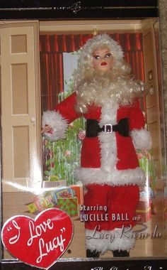 BARBIE I LOVE LUCY THE CHRISTMAS SHOW doll as SANTA NEW LUCILLE BALL TV