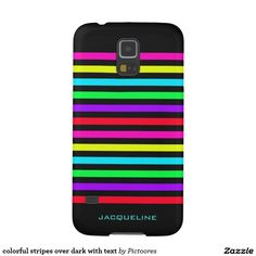 colourful stripes over dark with text galaxy s5 cases