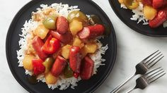 Hot dogs are the unsung heroes of dinnertime, and here's another recipe that proves it! Toss pineapple pieces, bits of bell pepper and sliced hot dogs in a homemade sweet and sour sauce, then serve over rice for a dinner that's fast, cheap and supremely satisfying.