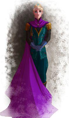Elsa genderbend. It'd be less weird if the cape weren't so purple.