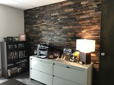 Wood wall panels have been gracing the interiors of homes for more than a century. The rich, warm look of wood can instantly transform any space, giving it interest and dimension as well as style. Reclaimed Wood Wall Panels, Wood Panel Walls, Home Interior Design, Interior And Exterior, Rustic Wood, Corner Desk, Furniture, Feels, Design Ideas