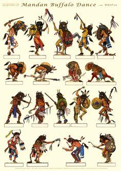 Mandan Buffalo Dance:  Gorini Art - Soldatini di Carta