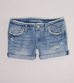 So basically the best thing ever. Faded blue jean shorts with crochet trim. Could it get any better?