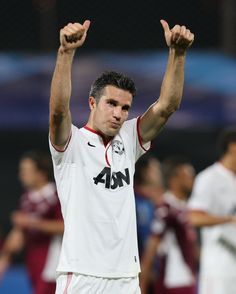 @manutd forward Robin van Persie gives the thumbs-up to travelling supporters following the 3-1 win over SC Braga in the 2012/13 Champions League. https://www.crets4bets.com/
